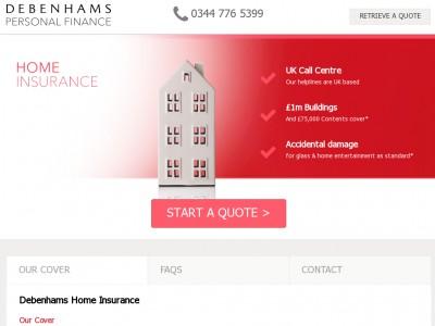 Debenhams Home Insurance