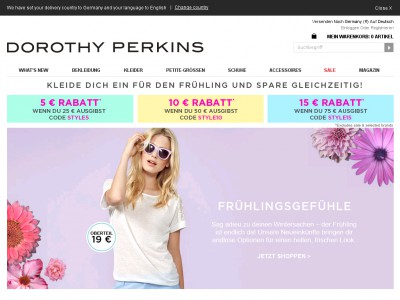 Discover the latest high street fashion online at Dorothy Perkins. Shop womens dresses, tops, shoes, coats, petite clothing, and more in sizes today!