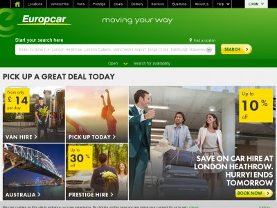 Europcar provides efficient services which include Europcar delivery and collection services for your van or car, Europcar online check-in service to complete any paperwork and make a payment whenever it is convenient for you and much more.