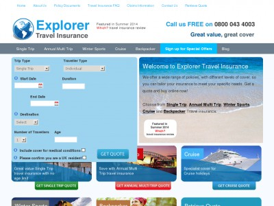 Explorer Travel Insurance Discount Code