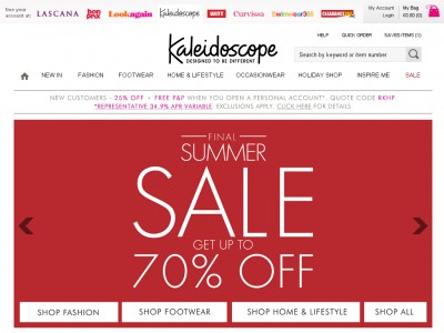 Kaleidoscope S Voucher Codes