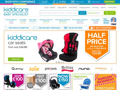 Save big when you shop with Kiddicare discount codes As one of the UK's leading baby specialists -- and the winners of the Mother & Baby Retailer of the Year Award -- Kiddicare is the place to shop for all your wants and needs for the little one.