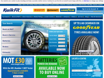 Book your MOT test the same time as your car service and receive additional savings, whether you're opting for essential car care, interim or a full-service deal. Kwik Fit Voucher Codes Check out our latest Kwik Fit voucher codes for deals on tyres, servicing, safety checks and more, and you could pocket a few extra pounds.