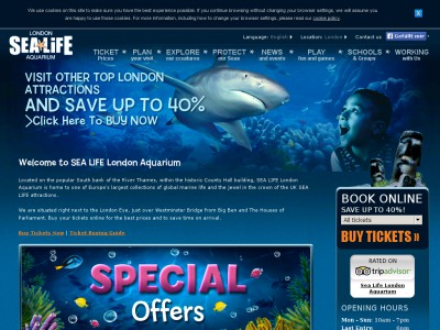 Sea Life London Aquarium Discounts Voucher Codes November 2018