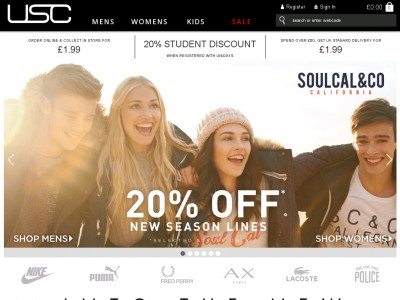 Up your brand game this summer with the good folks at USC. With a great catalogue of designer products and sportswear for men, women and kids, you can make unbeatable savings on everything you need with a USC discount code from vouchercloud.