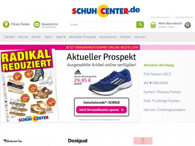 schuhcenter newsletter anmeldung